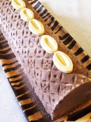bûche chocolat marron
